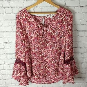 Hippie Rose Flowy Bohemian Flower Child Top